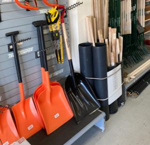 Hardware - shovels, brushes etc.